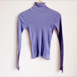 vtg 90s lavender ribbed long sleeve turtleneck